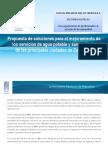 Propuesta de soluciones para organismos operadores del agua