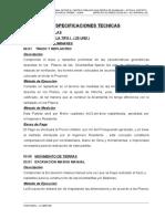 Especificaciones -Alcantarillas - Cajas