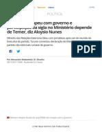 PSDB não rompeu com governo e participação da sigla no Ministério depende de Temer, diz Aloysio Nunes _ Política _ G1.pdf