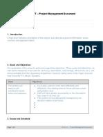 Project Management Document