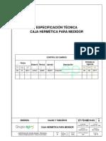 ET-TD-ME14-03 - CAJA HERMÉTICA