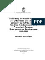 Mortalidad Por Enfermedad Isquemica Del Corazon en La Provincia Del Sumapaz