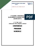 6th GCBSS Program Schedule (1 Dec)