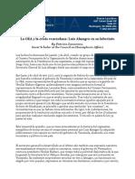 La OEA y La Crisis Venezolana Luis Almagro en Su Laberinto