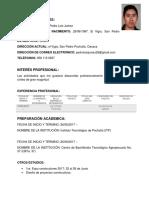 Currículum Vitae - Pedro