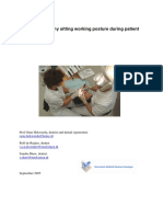 Adopting Healthy Sitting Posture During Patient Treatment