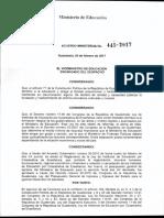 Acuerdo Ministerial No. 445-2017