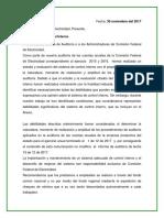 Carta de Recomendaciones Al Control Interno
