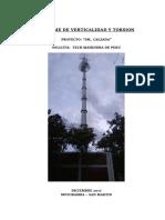 Informe de Verticalidad y Torsion