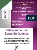 Balanceo de Ecuaciones Quimicas Grupo #4