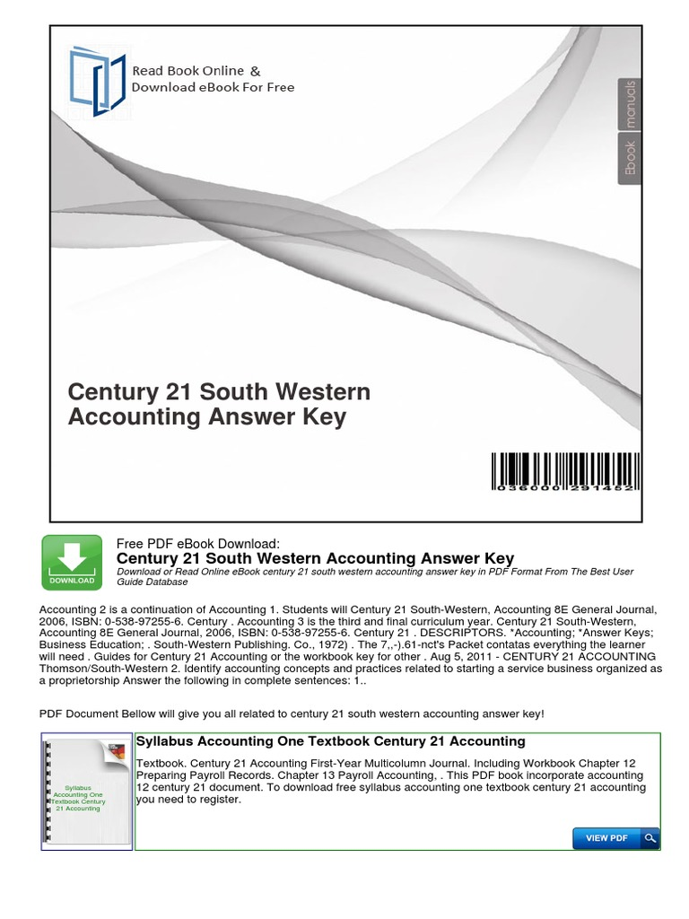 1pdf century 21 south western accounting answer key free pdf 1pdf century 21 south western accounting answer key free pdf ebook download century 21 south western accounting answer key download or read online ebook fandeluxe Images