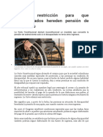Tumban Restricción Para Que Discapacitados Hereden Pensión de Sus Padres