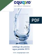 Catalogo Agua Potable 2015