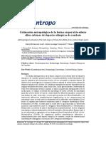 Betancourt, Estimación Antropológica de La Forma Corporal de Atletas