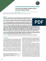 Comparacion y Correlacion Entre Aumedidas y Monitorizacion Ambulatoria