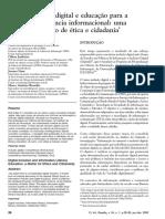 Inclusão digital e educação para a competência informacional