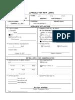 Application for Leave Form