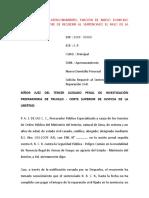 2.- Apersonamiento, Fijación de Nuevo Domicilio Procesal