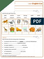 Short Stories ABC Zoo Worksheet