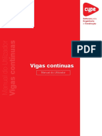 Vigas Continuas Manual Do Utilizador