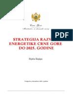 Strategija Razvoja Energetike Crne Gore Do 2025