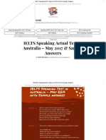 IELTS Speaking Test 5