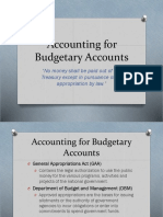 Accounting for Budgetary Accounts