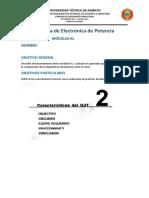 Práctica 3 Módulos Kl Transistores Ujt Electrónica de Potencia