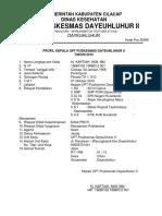 2.2.1 Profil Kepala Upt Puskesmas Dayeuhluhur II