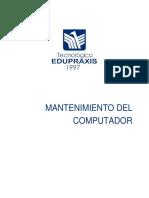 Unidad I Mantenimiento Del Computador