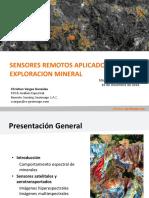 Aplicación de Los Sensores Remotos en La Exploración Mineral