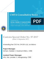 Customs Modernization and Tariff Act Briefer