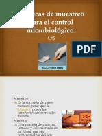 Tecnicas de Muestreo Para El Control Microbiologico