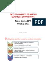 Cours Génétique Quantitative L1 2015