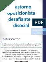 Trastorno Oposicionista desafiante y Disocial
