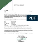 Surat Pengangkatan Karyawan Tetap
