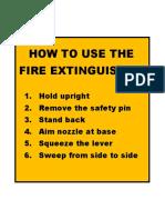 Print Fire Extinguisher