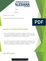 presentacion aplicacion microcontrolador