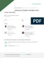 Compressivebehaviourofhighstrengthsteelcross Sections