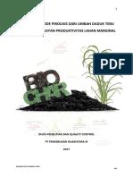Aplikasi Biochar Limbah Daduk Tebu Untuk Peningkatan Produktivitas Lahan Marginal