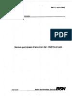SNI 13-3474-1994_Sistem Perpiaan Transmisi & Distribusi Gas