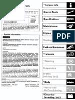 Honda Civic 92-95 Workshop Manual  62sr323