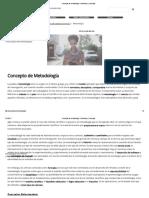 Concepto de Metodología - Definición y Concepto