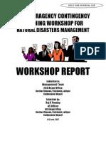 Workshop Report NDCP