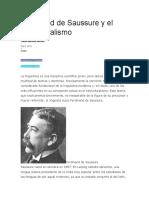 Ferdinand de Saussure y El Estructuralismo