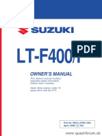 Suzuki Eiger LT-F400/F Owners Manual