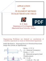 Application of FEM for Electro-Static Field
