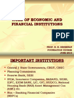 Role of Economic and Financial Institutions by k. k. Krishnan
