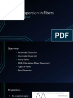 Signal Dispersion in optical fiber communication