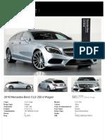 2016 Mercedes-Benz CLS 250 d Wagon